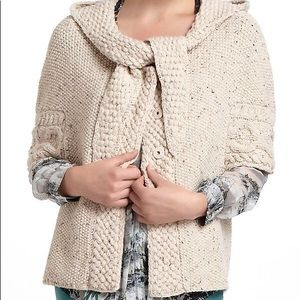 Anthropologie Far Away From Close Purl Hoodie